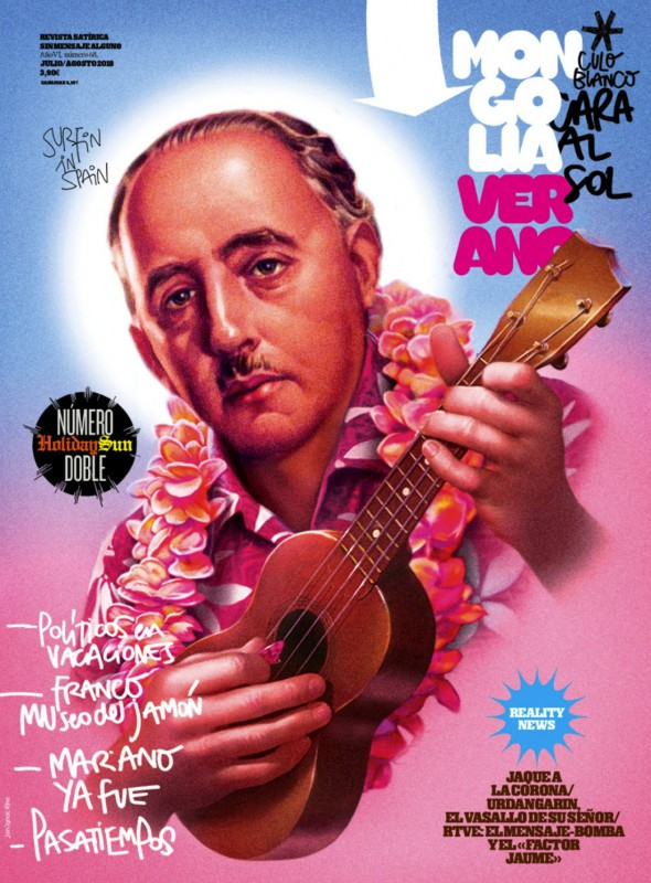 Ignác Říha   Romantisiced  Franco   Title for the summer double edition.   Current far-right  moods across Spain elevated Francesco Franco not only from his grave but onto the pedestal of the good old times, order and long gone fame. Author Ignac Riha